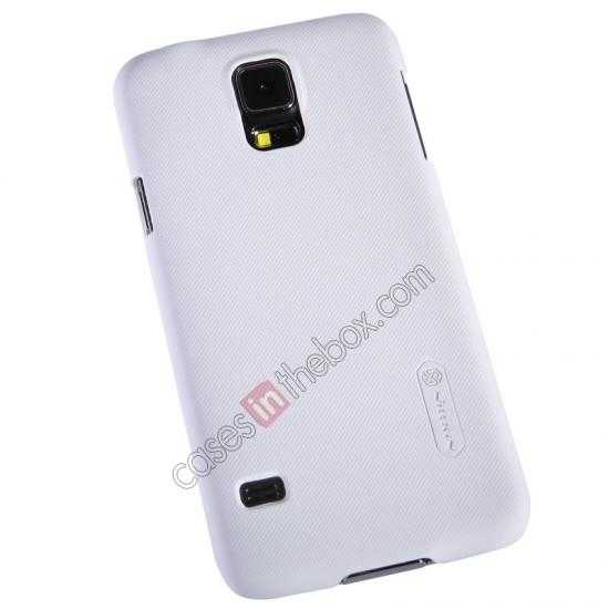 top quality Nillkin Super Frosted Shield Plastic Cover Case for Samsung Galaxy S5 G900 - White