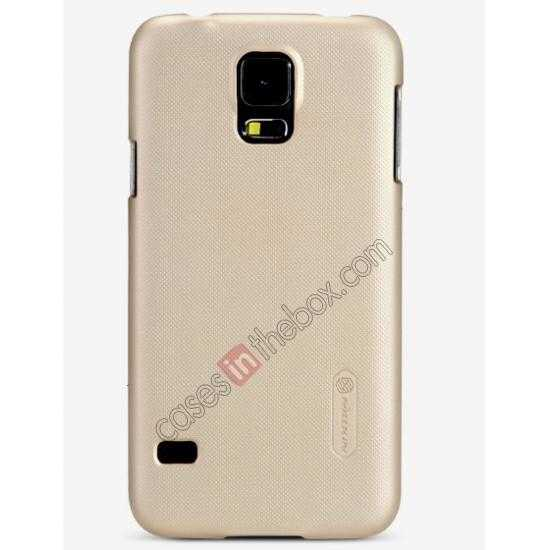 high quanlity Nillkin Super Frosted Shield Plastic Cover Case for Samsung Galaxy S5 G900 - Brown