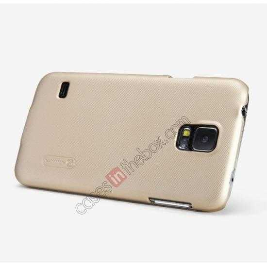 china wholesale Nillkin Super Frosted Shield Plastic Cover Case for Samsung Galaxy S5 G900 - Brown