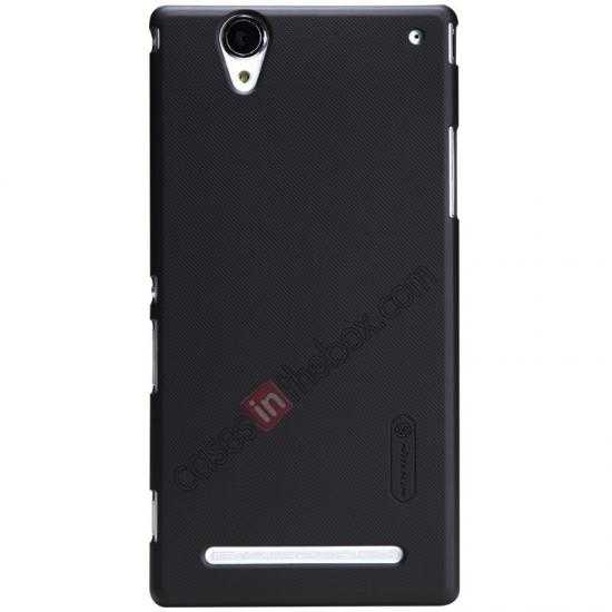wholesale Nillkin Super Frosted Shield Plastic Cover Case for Sony Xperia T2 Ultra XM50h - Black