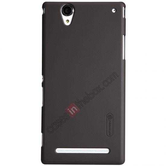 wholesale Nillkin Super Frosted Shield Plastic Cover Case for Sony Xperia T2 Ultra XM50h - Brown