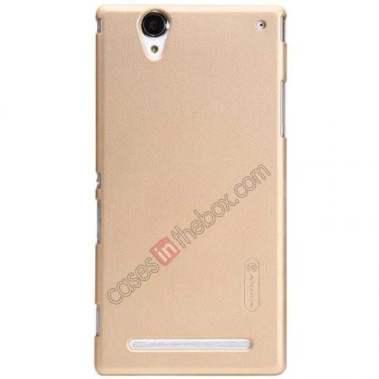 wholesale Nillkin Super Frosted Shield Plastic Cover Case for Sony Xperia T2 Ultra XM50h - Golden