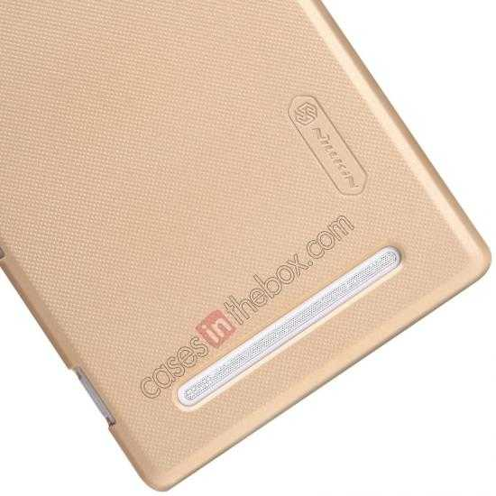 best price Nillkin Super Frosted Shield Plastic Cover Case for Sony Xperia T2 Ultra XM50h - Golden