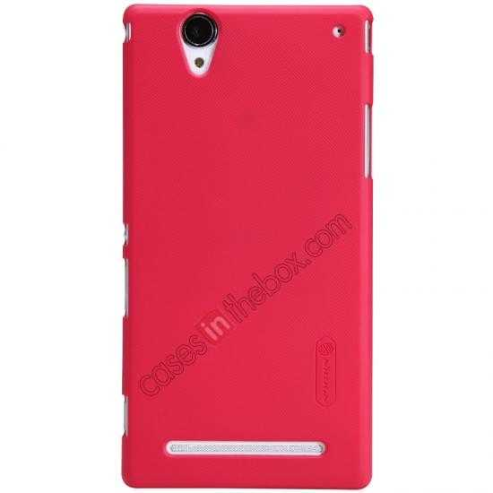 wholesale Nillkin Super Frosted Shield Plastic Cover Case for Sony Xperia T2 Ultra XM50h - Red