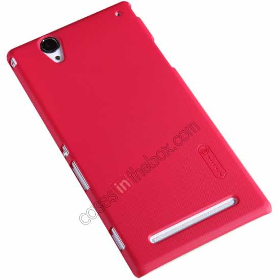 cheap Nillkin Super Frosted Shield Plastic Cover Case for Sony Xperia T2 Ultra XM50h - Red