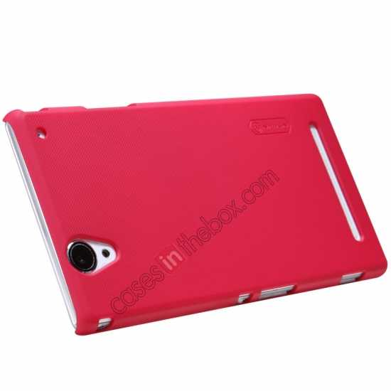 top quality Nillkin Super Frosted Shield Plastic Cover Case for Sony Xperia T2 Ultra XM50h - Red