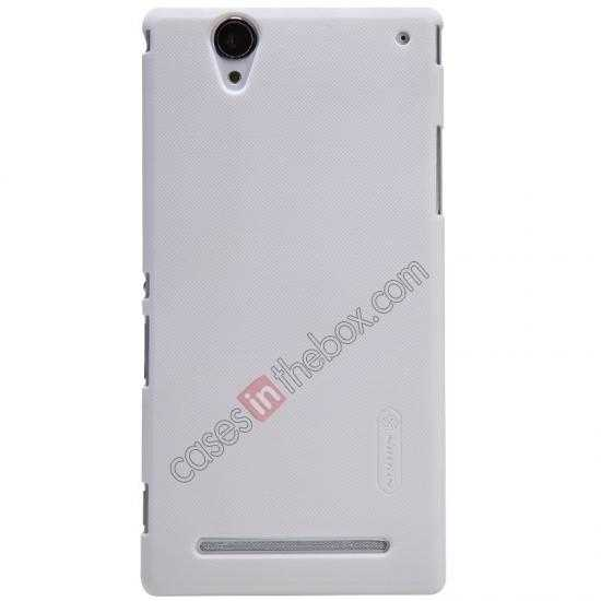wholesale Nillkin Super Frosted Shield Plastic Cover Case for Sony Xperia T2 Ultra XM50h - White