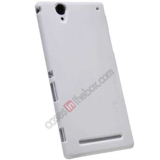 top quality Nillkin Super Frosted Shield Plastic Cover Case for Sony Xperia T2 Ultra XM50h - White