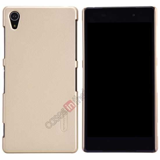 wholesale Nillkin Super Frosted Shield Plastic Cover Case for Sony Xperia Z2 L50 - Golden