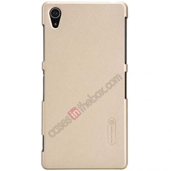 discount Nillkin Super Frosted Shield Plastic Cover Case for Sony Xperia Z2 L50 - Golden