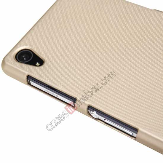 cheap Nillkin Super Frosted Shield Plastic Cover Case for Sony Xperia Z2 L50 - Golden
