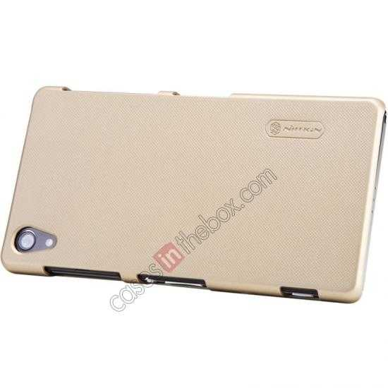 top quality Nillkin Super Frosted Shield Plastic Cover Case for Sony Xperia Z2 L50 - Golden
