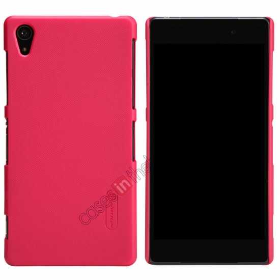 wholesale Nillkin Super Frosted Shield Plastic Cover Case for Sony Xperia Z2 L50 - Red