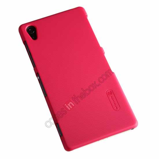 discount Nillkin Super Frosted Shield Plastic Cover Case for Sony Xperia Z2 L50 - Red