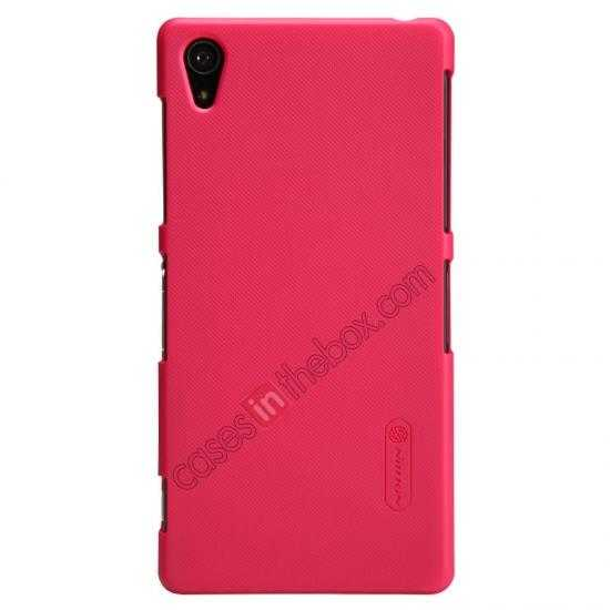 cheap Nillkin Super Frosted Shield Plastic Cover Case for Sony Xperia Z2 L50 - Red