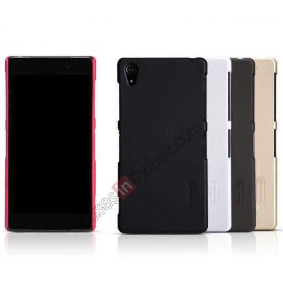 low price Nillkin Super Frosted Shield Plastic Cover Case for Sony Xperia Z2 L50 - Red
