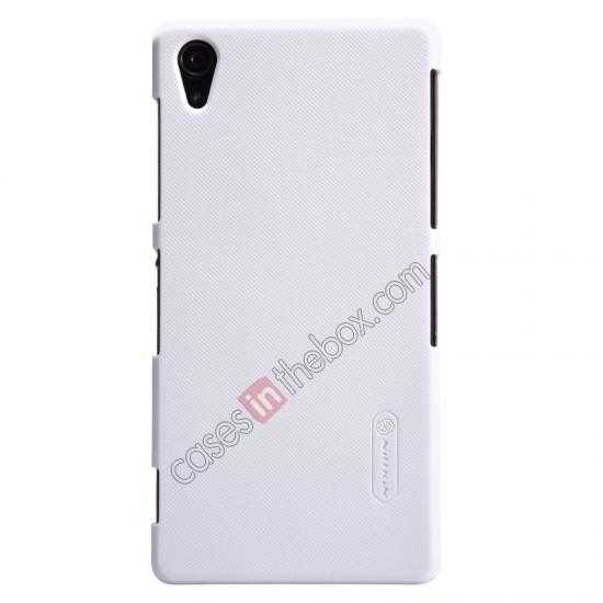 wholesale Nillkin Super Frosted Shield Plastic Cover Case for Sony Xperia Z2 L50 - White