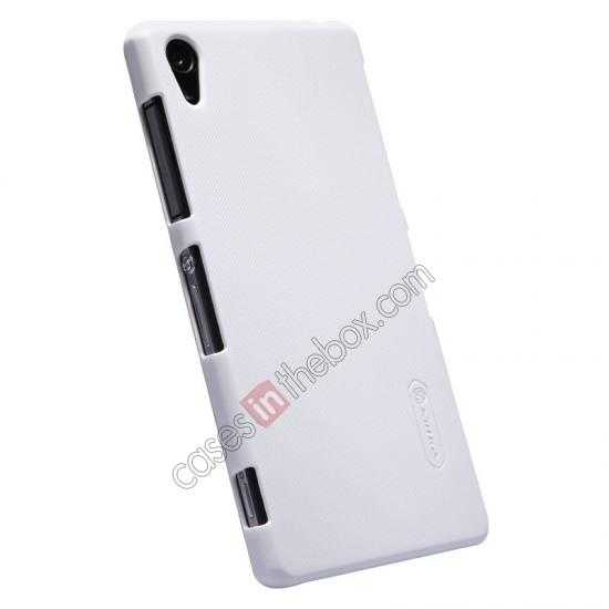 cheap Nillkin Super Frosted Shield Plastic Cover Case for Sony Xperia Z2 L50 - White
