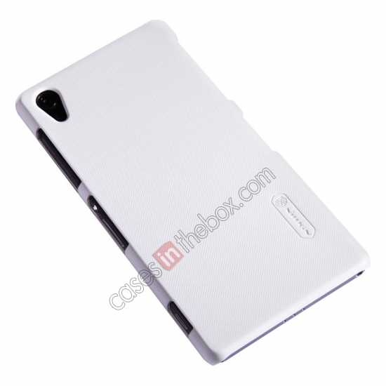 best price Nillkin Super Frosted Shield Plastic Cover Case for Sony Xperia Z2 L50 - White