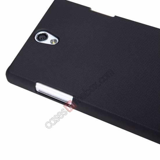 discount NILLKIN Super Frosted Shield Protective Back Cover PC Hard Case For OPPO R827T - Black