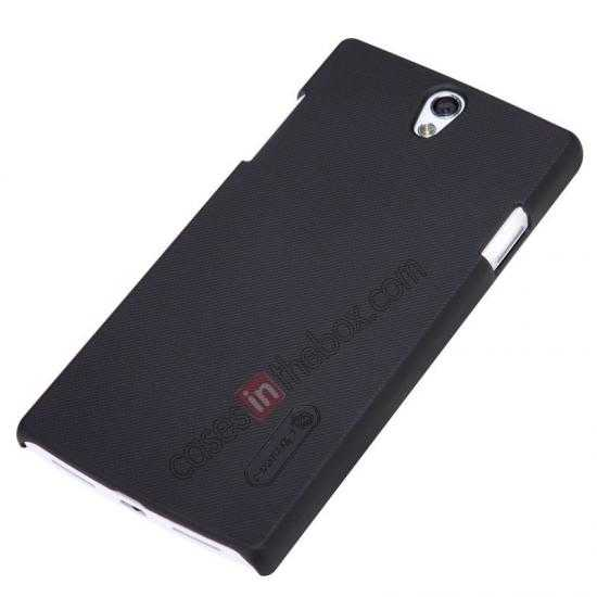 cheap NILLKIN Super Frosted Shield Protective Back Cover PC Hard Case For OPPO R827T - Black