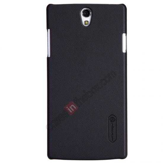 wholesale NILLKIN Super Frosted Shield Protective Back Cover PC Hard Case For OPPO R827T - Black