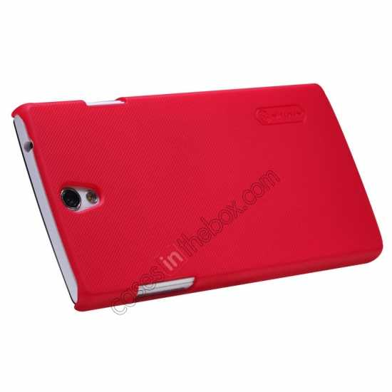 top quality NILLKIN Super Frosted Shield Protective Back Cover PC Hard Case For OPPO R827T - Red