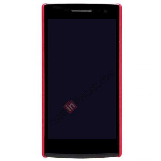 best price NILLKIN Super Frosted Shield Protective Back Cover PC Hard Case For OPPO R827T - Red