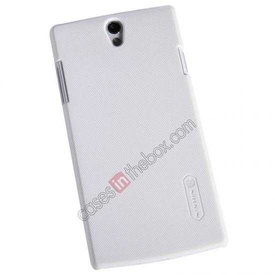 discount NILLKIN Super Frosted Shield Protective Back Cover PC Hard Case For OPPO R827T - White