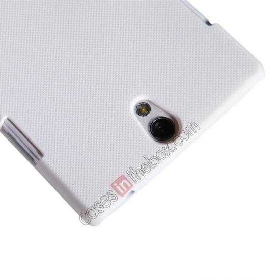 cheap NILLKIN Super Frosted Shield Protective Back Cover PC Hard Case For OPPO R827T - White