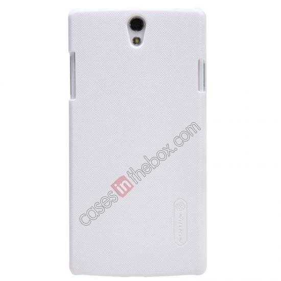 wholesale NILLKIN Super Frosted Shield Protective Back Cover PC Hard Case For OPPO R827T - White