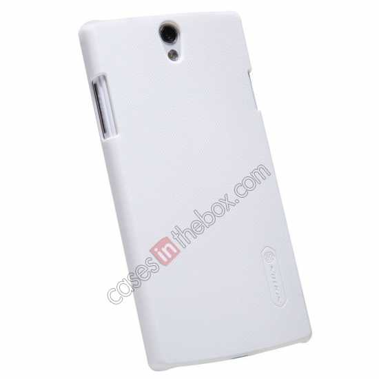 top quality NILLKIN Super Frosted Shield Protective Back Cover PC Hard Case For OPPO R827T - White