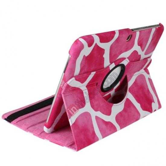 cheap Pink Camo 360 Degree Rotating Leather Case Cover for Samsung Galaxy Tab 3 10.1 P5200