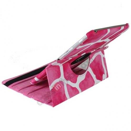 best price Pink Camo 360 Degree Rotating Leather Case Cover for Samsung Galaxy Tab 3 10.1 P5200