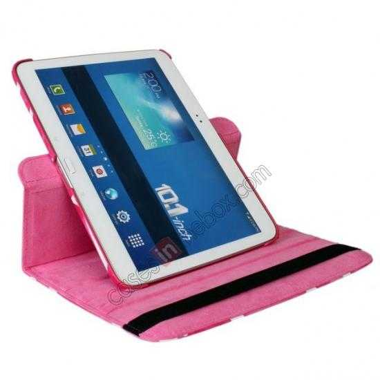 on sale Pink Camo 360 Degree Rotating Leather Case Cover for Samsung Galaxy Tab 3 10.1 P5200