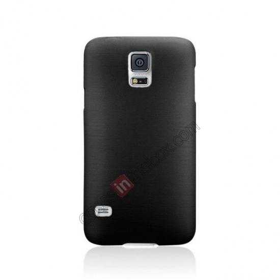 discount Plastic PC Wire Drawing Back Cover Case For Samsung Galaxy S5 - Black