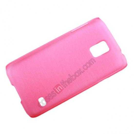 low price Plastic PC Wire Drawing Back Cover Case For Samsung Galaxy S5 - Pink