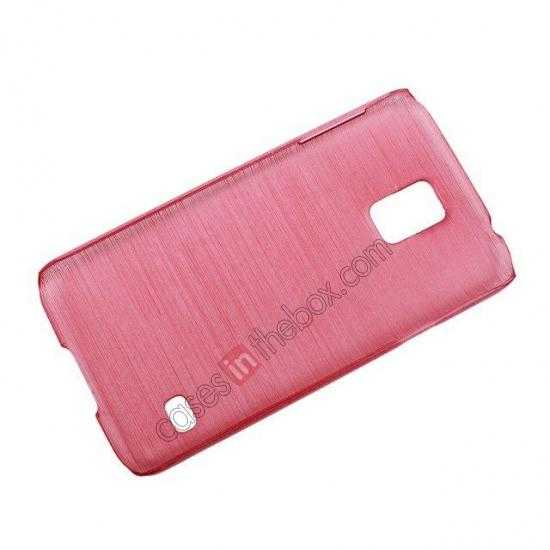 top quality Plastic PC Wire Drawing Back Cover Case For Samsung Galaxy S5 - Red