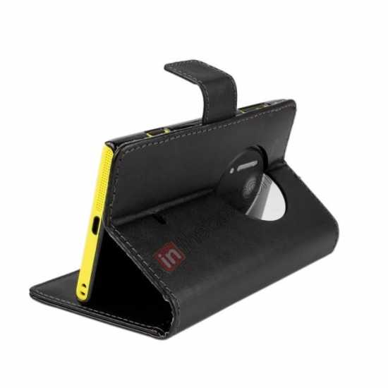 top quality PU Leather Wallet Flip Case Cover For Nokia Lumia 1020 - Black