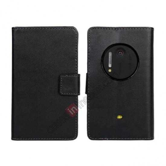 wholesale PU Leather Wallet Flip Case Cover For Nokia Lumia 1020 - Black