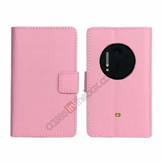 wholesale PU Leather Wallet Flip Case Cover For Nokia Lumia 1020 - Pink