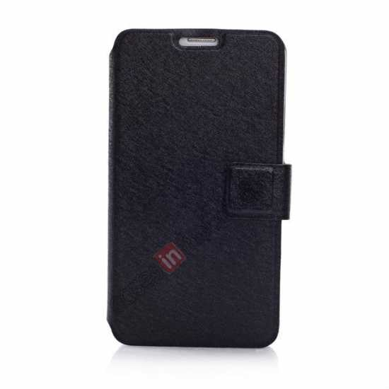 discount Rain Silk Pattern Leather Folio Flip Stand Case for Samsung Galaxy S5 G900 - Black