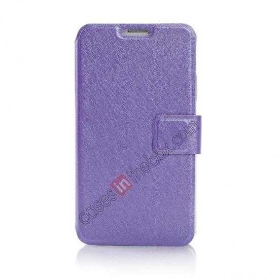 discount Rain Silk Pattern Leather Folio Flip Stand Case for Samsung Galaxy S5 G900 - Purple