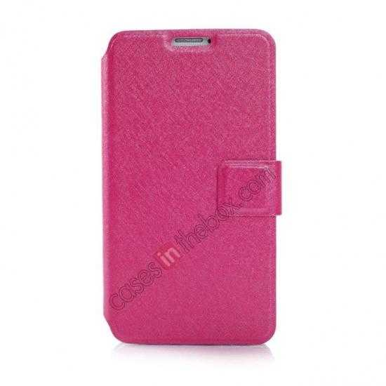 discount Rain Silk Pattern Leather Folio Flip Stand Case for Samsung Galaxy S5 G900 - Rose