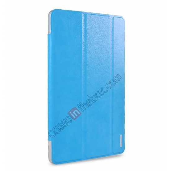 wholesale REMAX Fashion Floding Smart Leather Case Cover for Samsung Galaxy Tab Pro 10.1 T520 - Blue