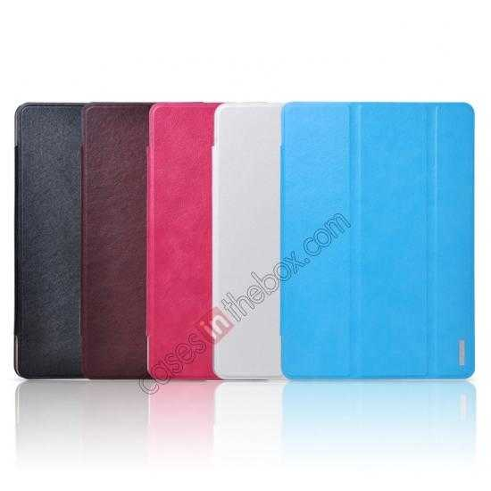 best price REMAX Fashion Floding Smart Leather Case Cover for Samsung Galaxy Tab Pro 10.1 T520 - Coffee