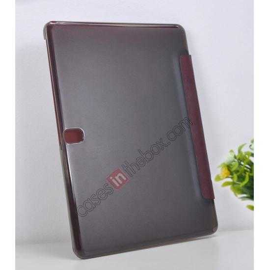 top quality REMAX Fashion Floding Smart Leather Case Cover for Samsung Galaxy Tab Pro 10.1 T520 - Coffee