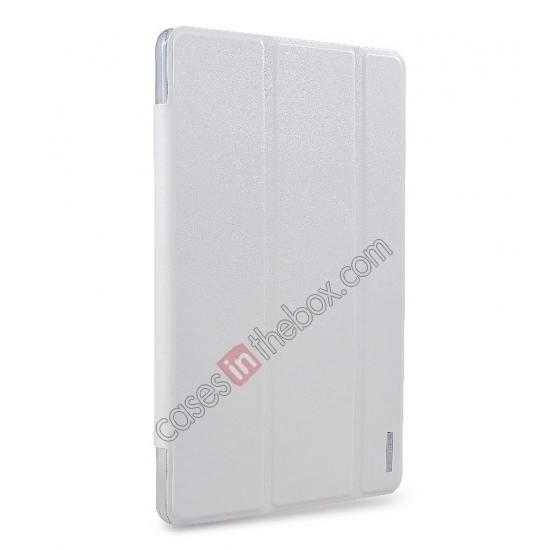 wholesale REMAX Fashion Floding Smart Leather Case Cover for Samsung Galaxy Tab Pro 10.1 T520 - White