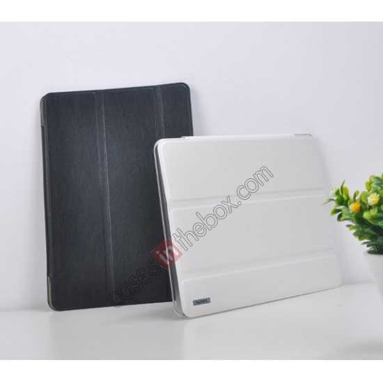 cheap REMAX Fashion Floding Smart Leather Case Cover for Samsung Galaxy Tab Pro 10.1 T520 - White