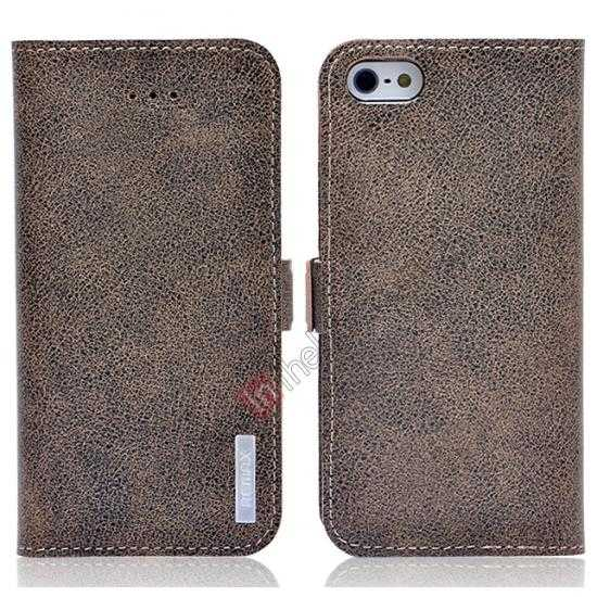 wholesale Remax Luxury 100% Genuine Real Cow Leather Case for iPhone 5S/5